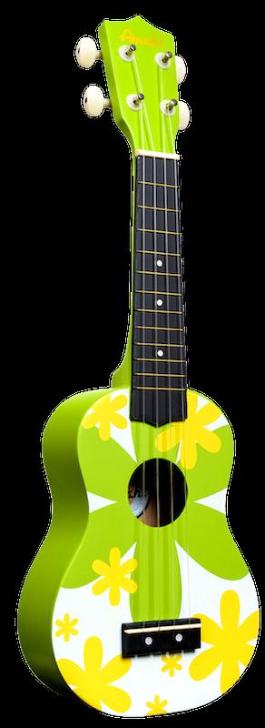 Amahi Soprano Green Flower Ukulele