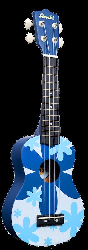 Amahi Soprano Blue Flower Ukulele