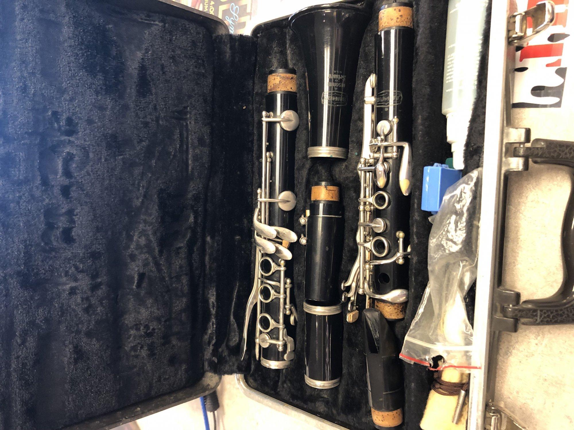 Used Bundy Resonite Selmer Clarinet