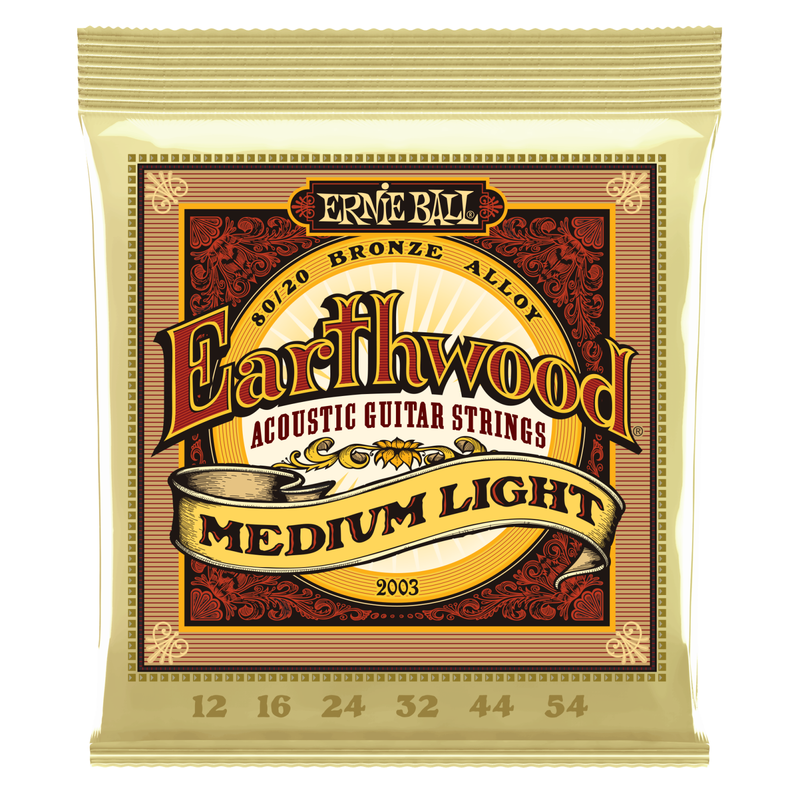 Ernie Ball Earthwood Acoustic Guitar Strings - Medium Light Gauge