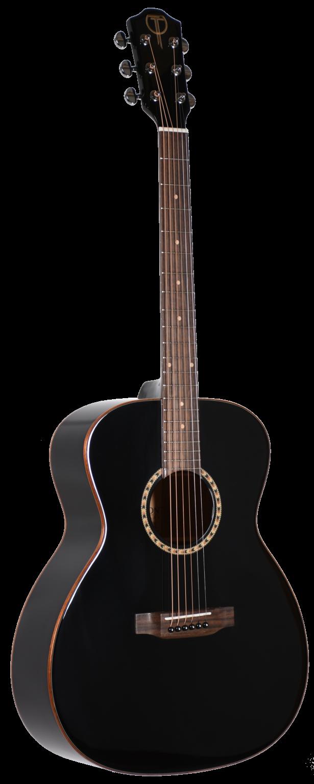 Teton STA100EBK Acoustic-Electric Guitar (Black)