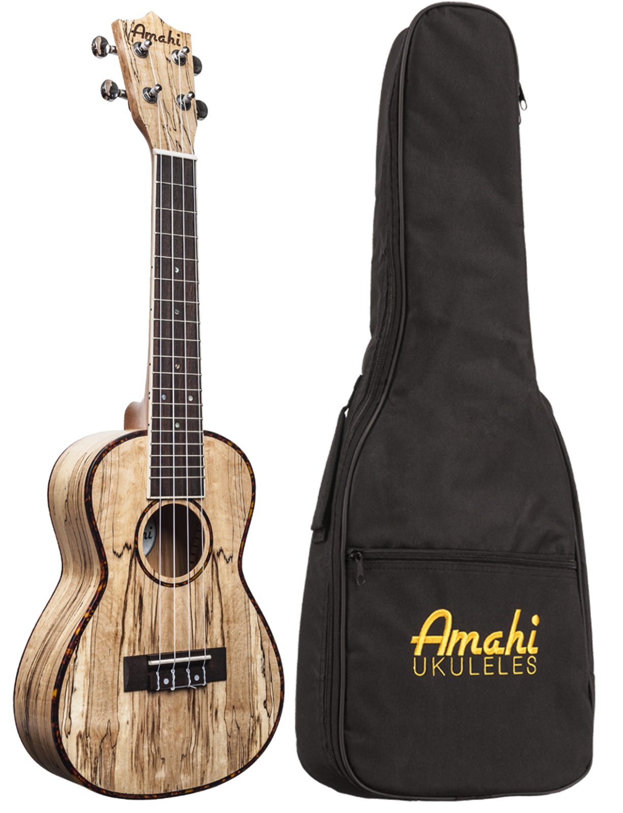 Amahi UK770 Spalted Maple Wood Ukulele