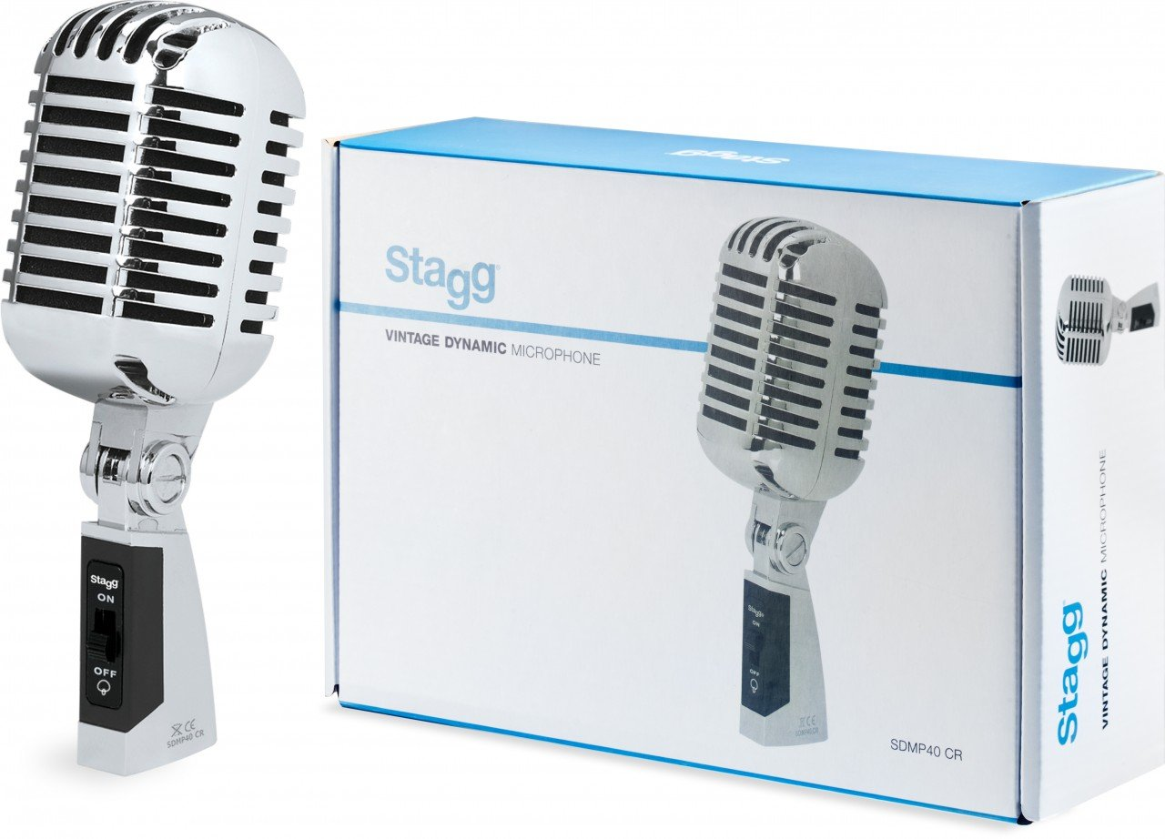 STAGG Vintage Dynamic Microphone SDMP40 CR