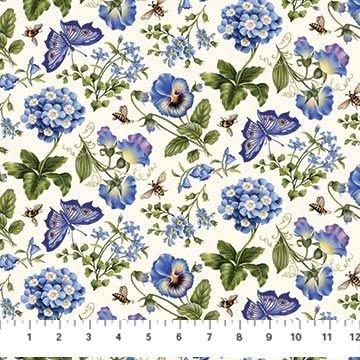 Botanical Blues - Butterfly Garden Blue