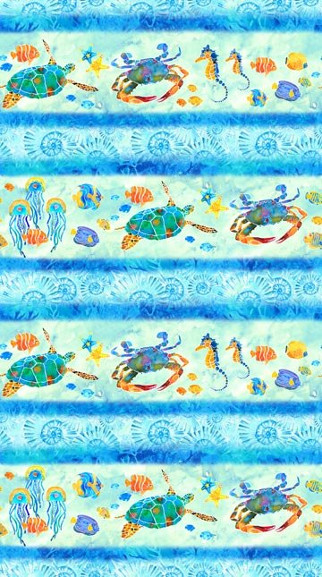 Sea Life Stripe - Tranquil Tides