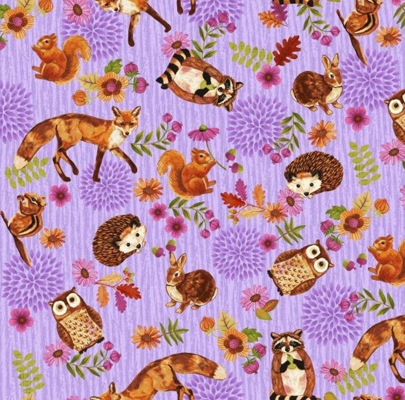 Enchanted Forest - Animals Allover Lilac