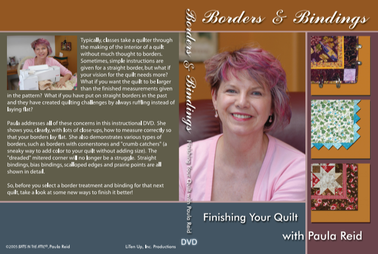 Paula Reid's Borders & Bindings DVD