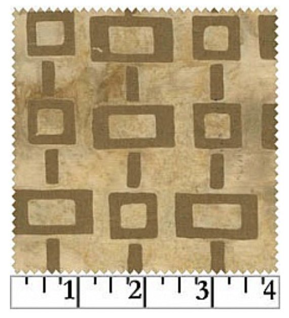 Brown Squares On Beige Batiks