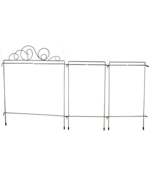 12 Meandering Tri-Stand, Silver Finish, Scroll Topper