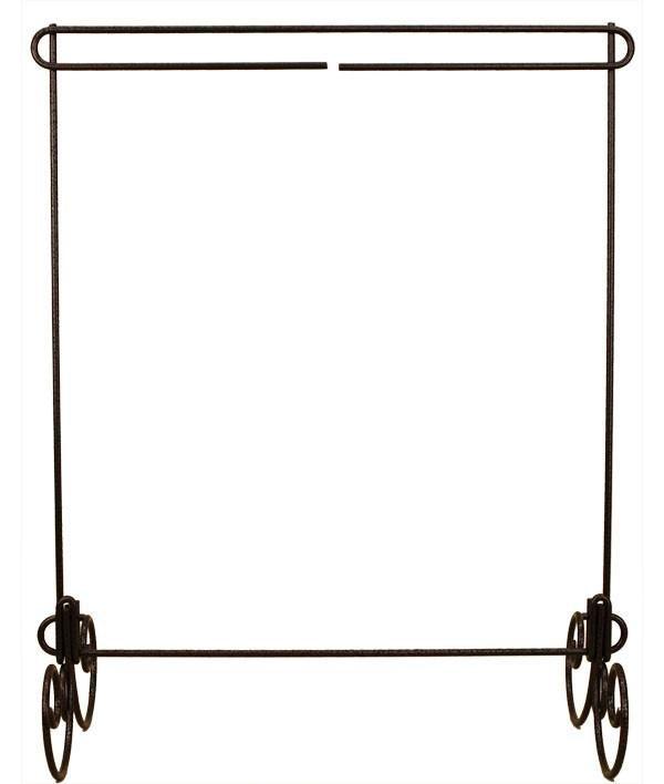 12 x 14 Wire Table Stand, Black Gunmetal Finish, No Header