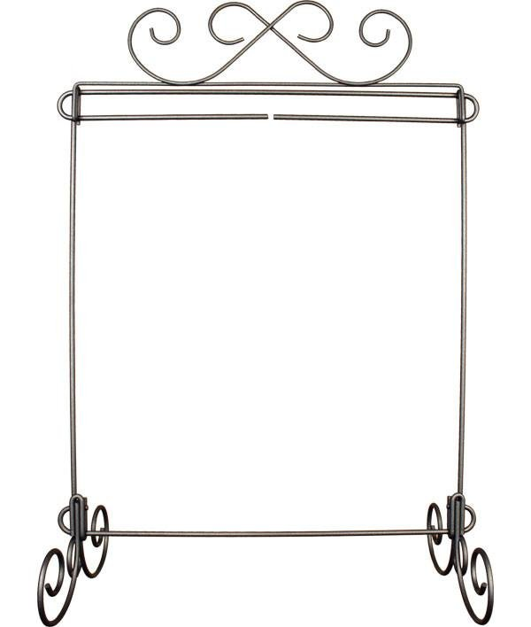 12 x 14 Single Stand, Scroll Topper