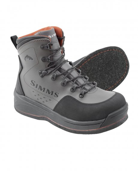 Simms Tributary Boot Rubber Sole Striker Grey