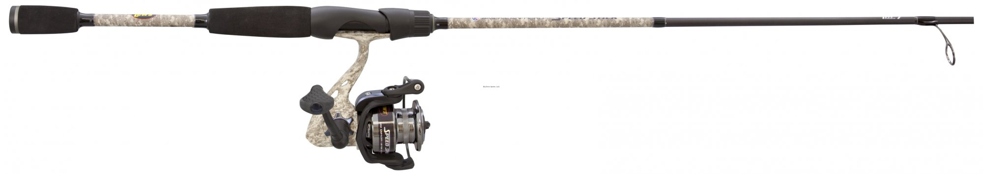 Lew's American Hero Camo Speed Spin Spinning Combo