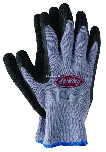 Berkley Non-Slip Coated Fisherman's Glove Blue & Grey