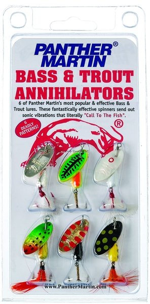 Panther Martin Spinner Kit - 6 Assorted 1/4oz Spinners