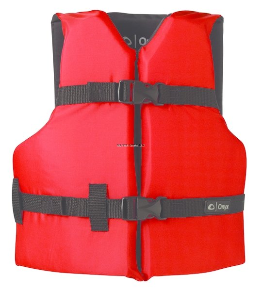 Onyx General Purpose Life Vest Youth PFD, Red