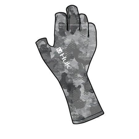 Huk Refraction Sun Gloves Storm
