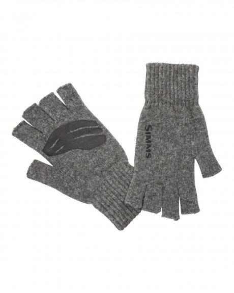 Simms Wool Half Finger Mitt Gloves Steel
