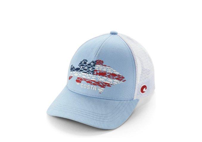 Costa Huddle Bass USA Snapback Light Blue Hat