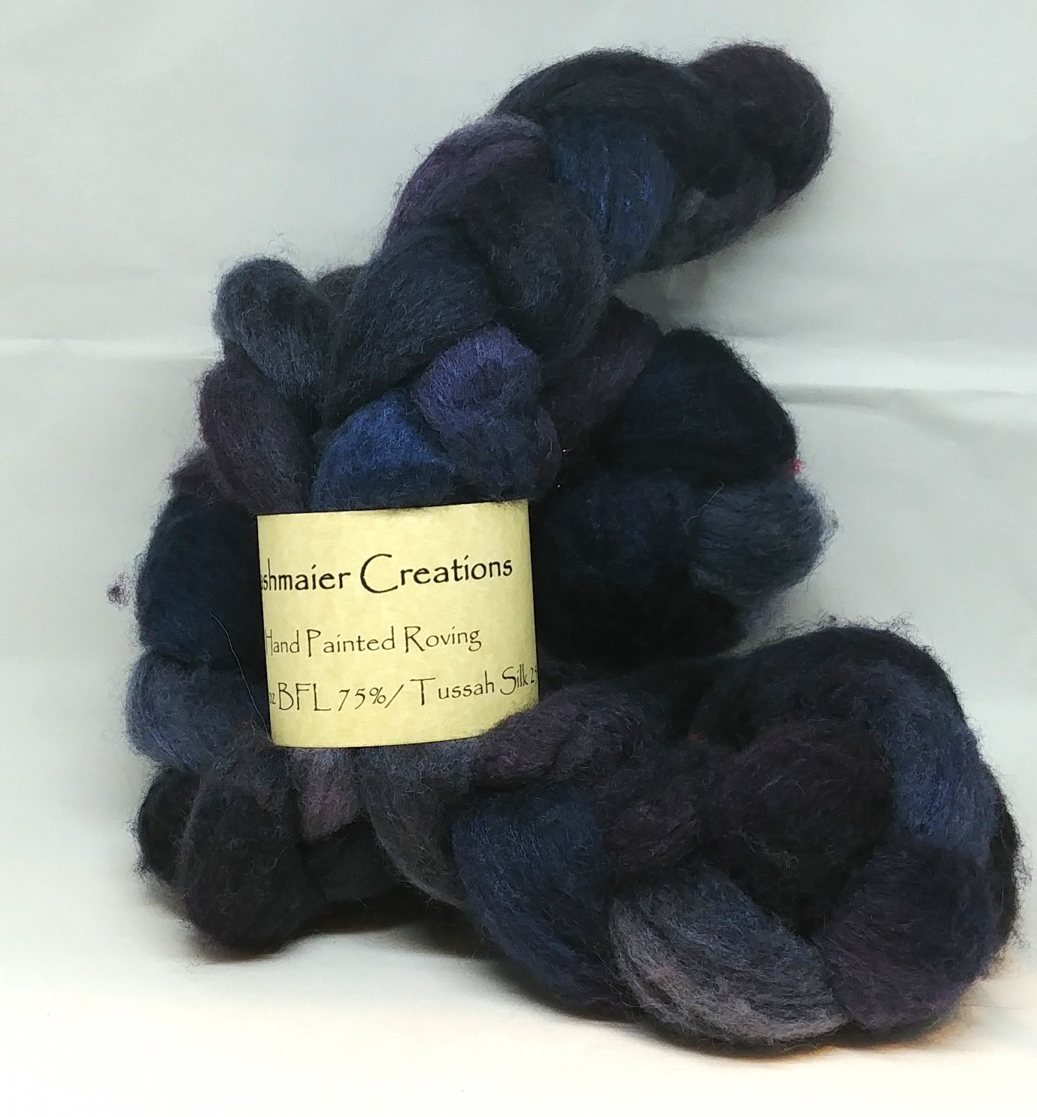 Kashmaier Creations - Hand Painted Roving (BFL 75% Silk 25%)