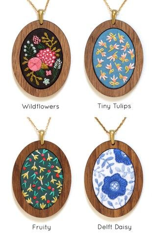 Kiriki Embroidered Pendant Kit
