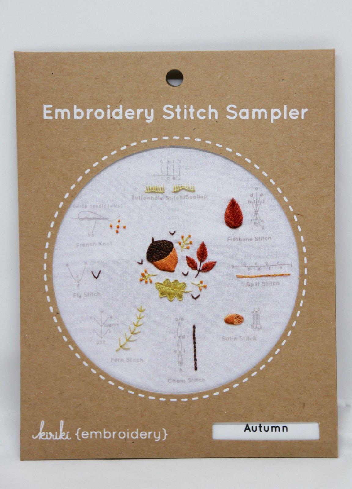 Kiriki Embroidery Stitch Samplers