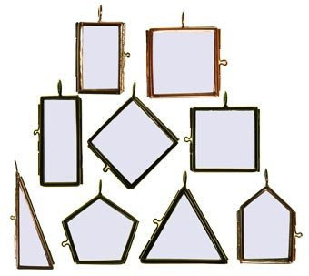 Framed Double Glass Pendant