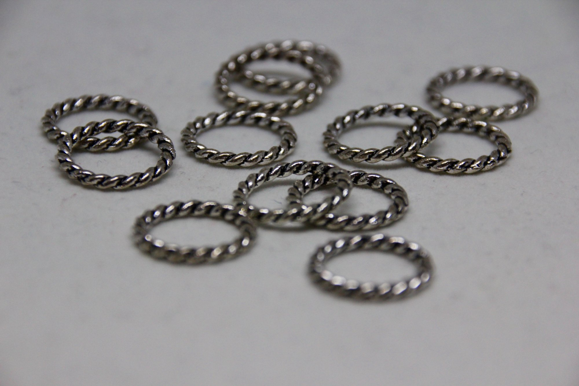 Black Sheep Large Silver Textured Stitch Markers
