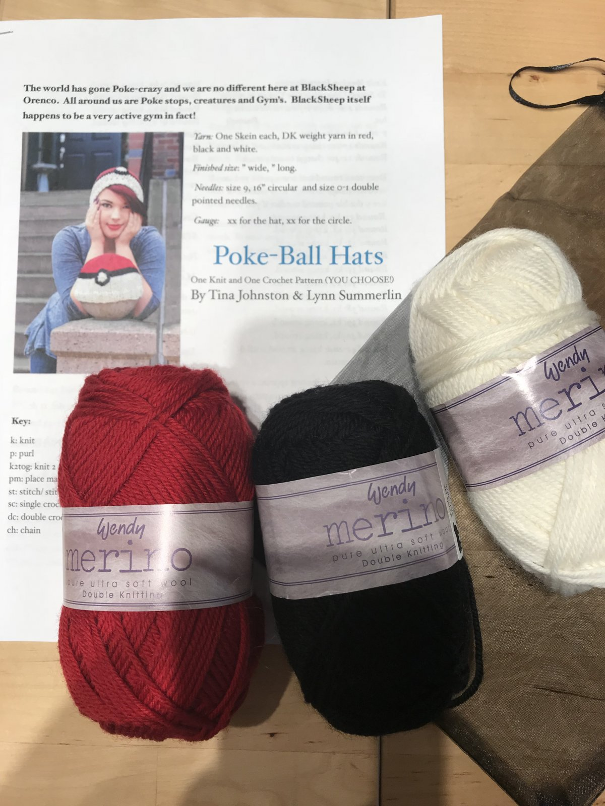 Pokeball Hat Kit