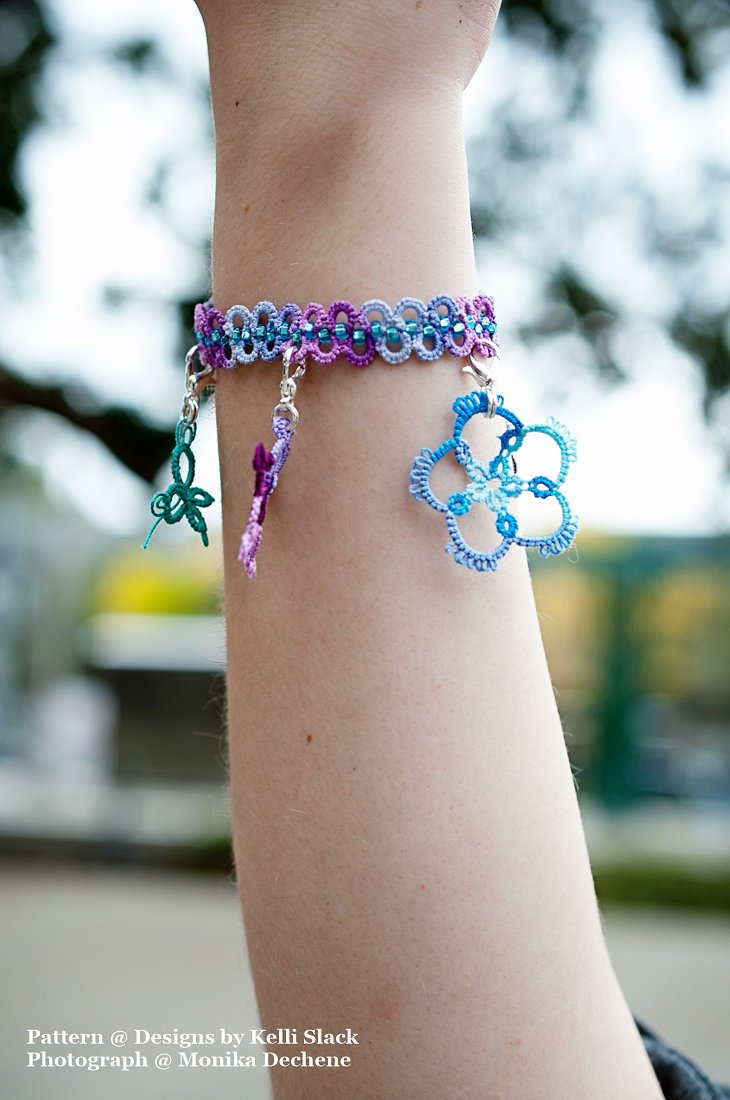 Beaded Bracelet & Charms (Tatting) PDF