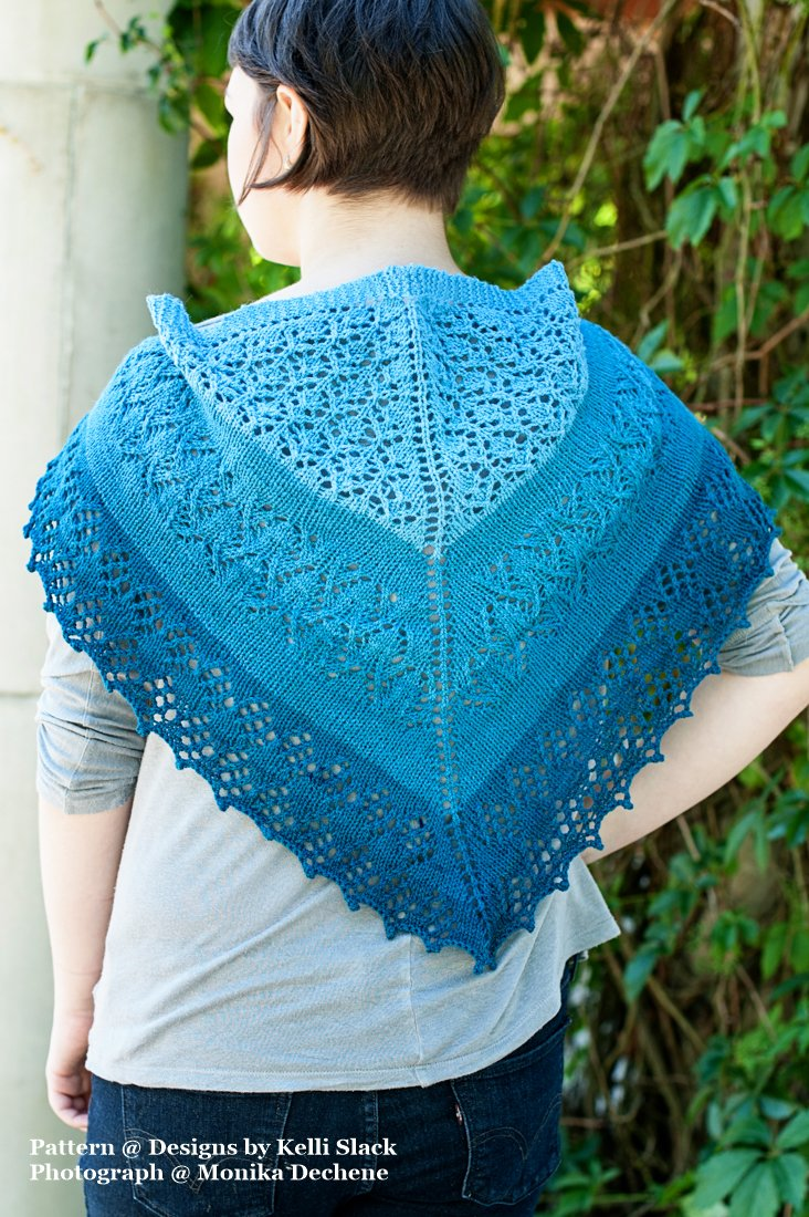 Blue Caterpillar Shawlette PDF