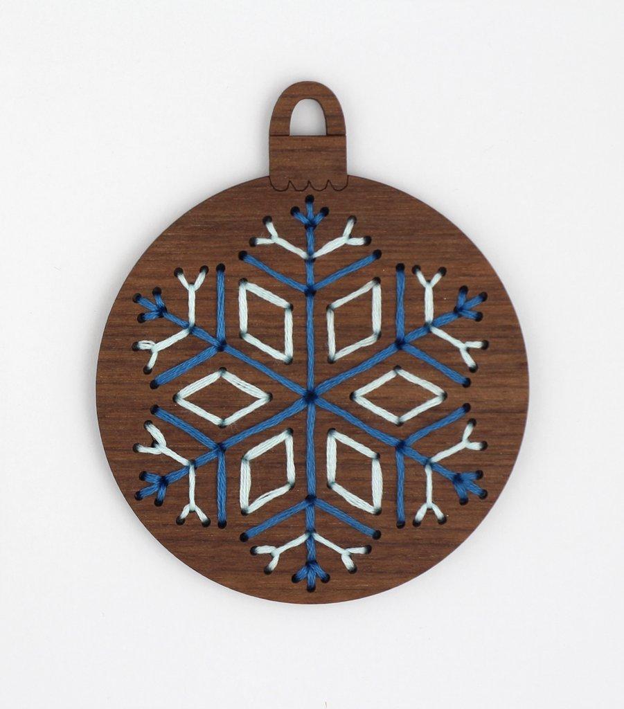 Kiriki Wooden Embroidered Ornament Kits