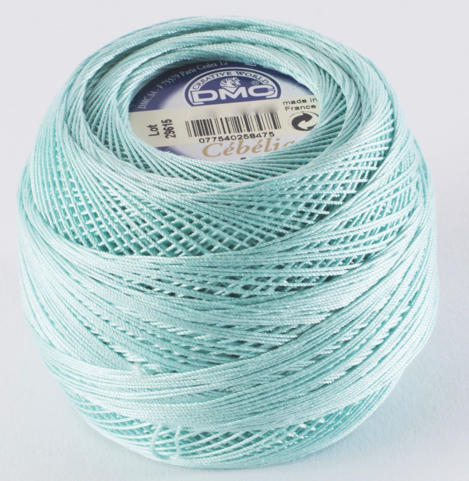 DMC Cebelia 100% Cotton Thread No. 20 Robin Egg Blue