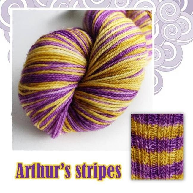 Biscotte Yarn Bis-Sock Arthur's Stripes