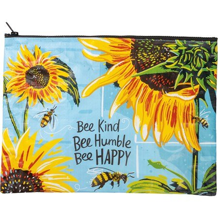 Bee Kind Large Zipper Pouch