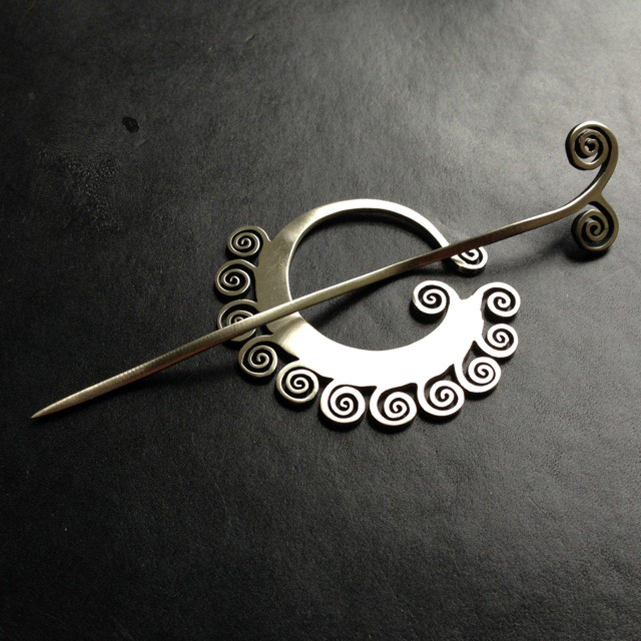 JUL Coil Shawl Pin