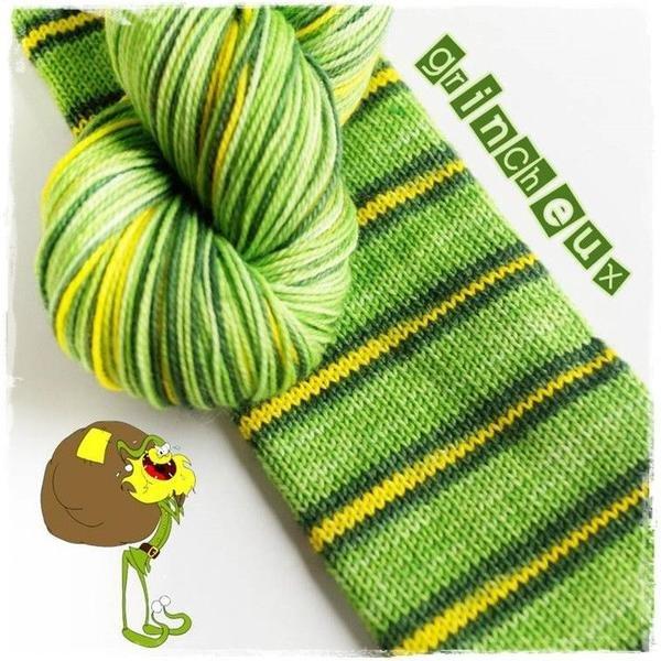 Biscotte Yarn Bis-Sock Grinch