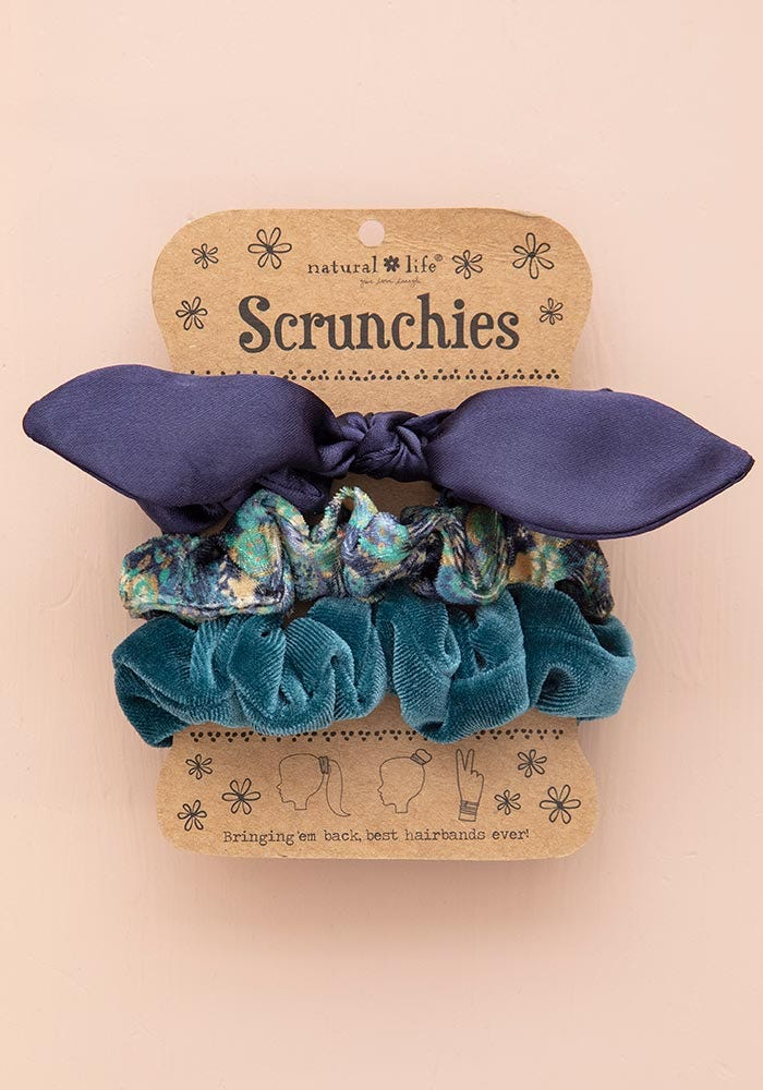 Natural Life Bow Scrunchie