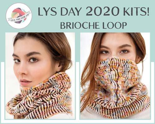 Brioche Loop Cowl Kit