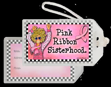 Pink Ribbon Sisterhood Bag Tag