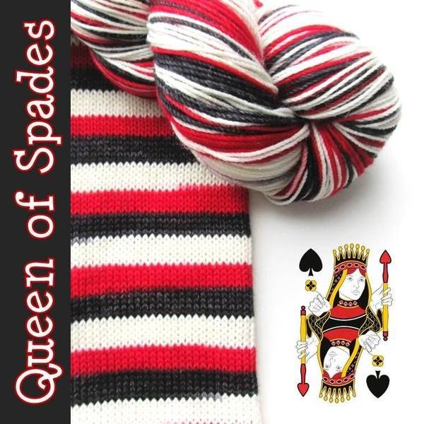 Biscotte Yarn Bis-Sock Queen of Spades