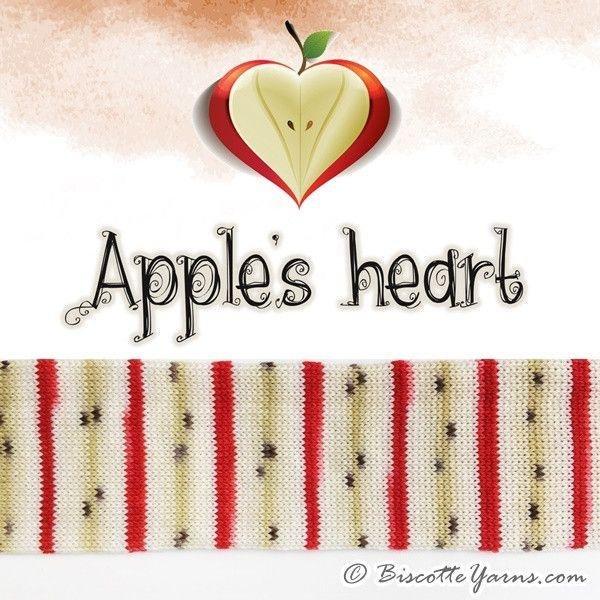 Biscotte Yarn Bis-Sock Apple Slice