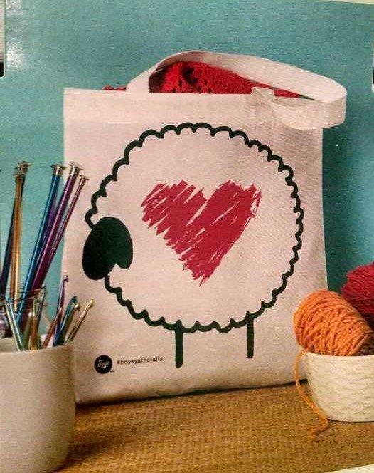 Sheep & Heart Bag