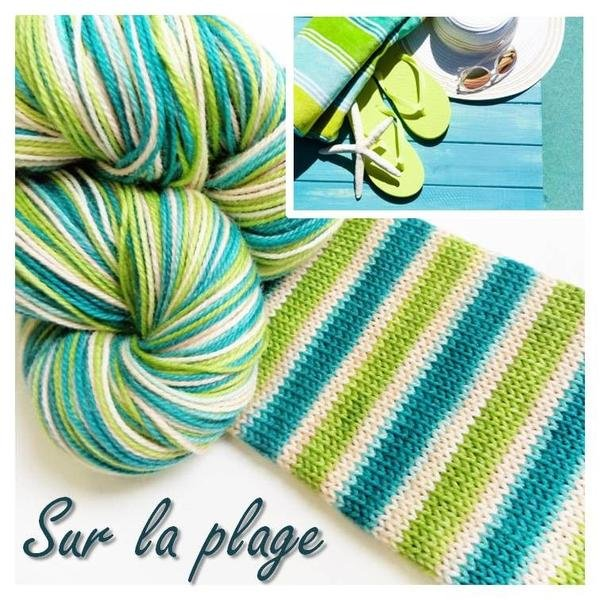 Biscotte Yarn Bis-Sock Surlaplage