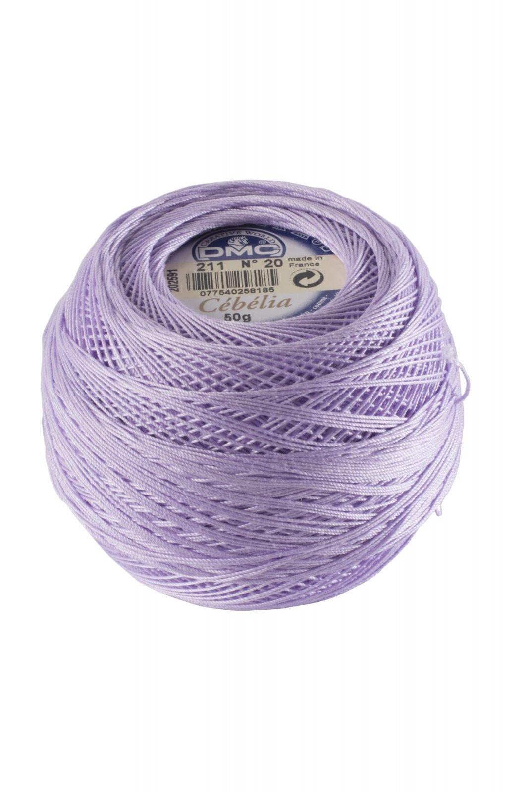 DMC Cebelia 100% Cotton Thread No. 20 Violet