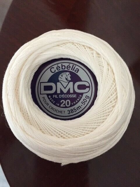DMC Cebelia 100% Cotton No. 20 Thread Blanc