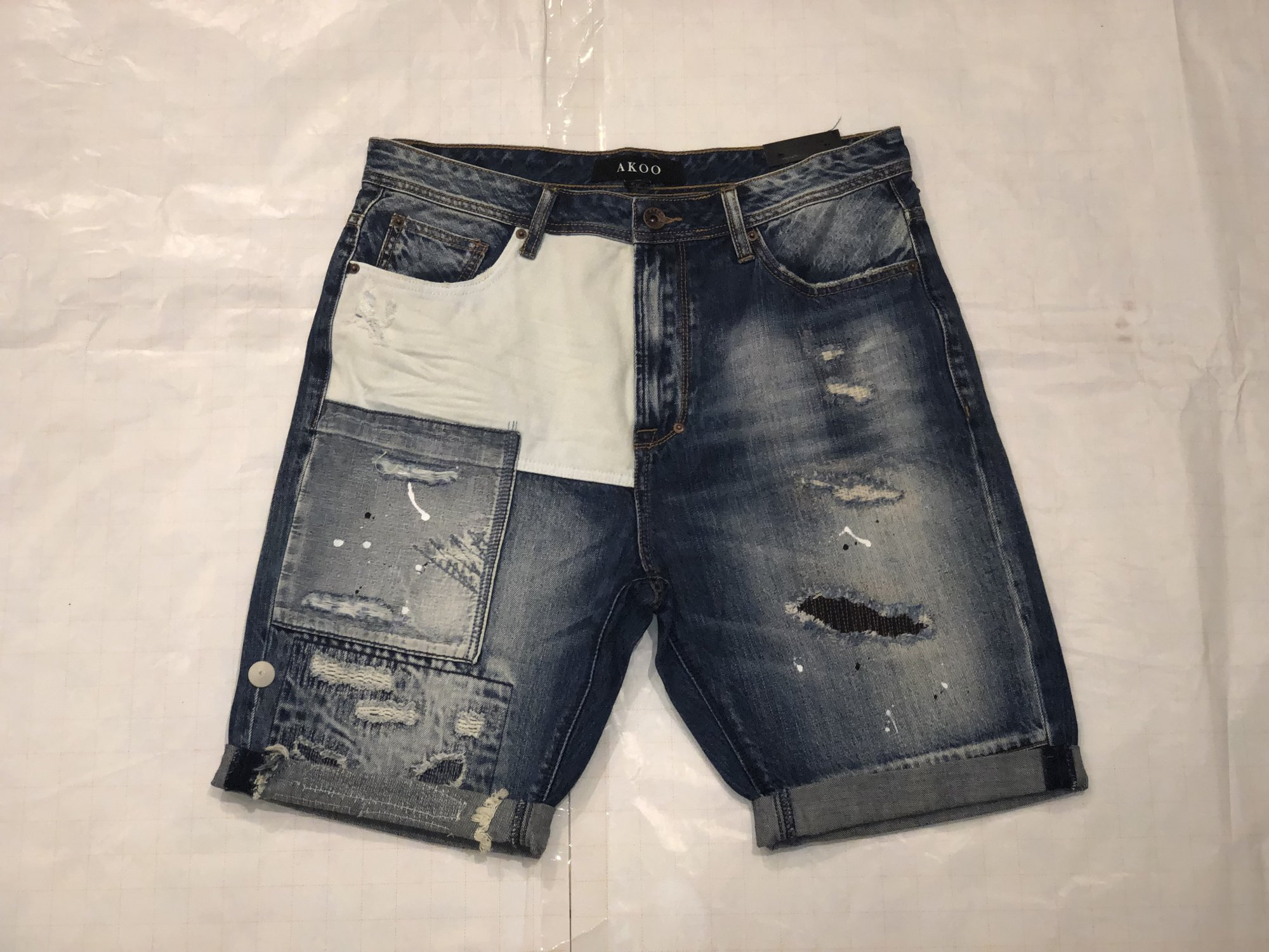 AKOO DENIM SHORT
