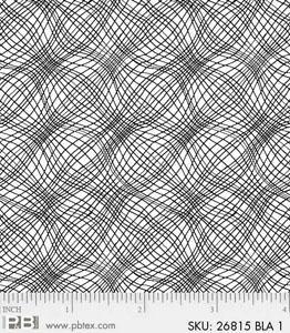 P & B Textiles Noir Mesh Black & White