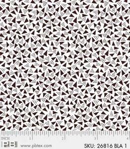 P & B Textiles Noir Triangles Black & White