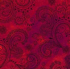 Avalon Decorative Filligree-Red (108 wide)